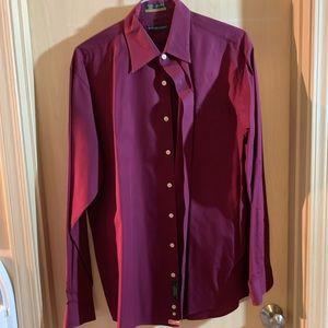 Burgundy dress shirt